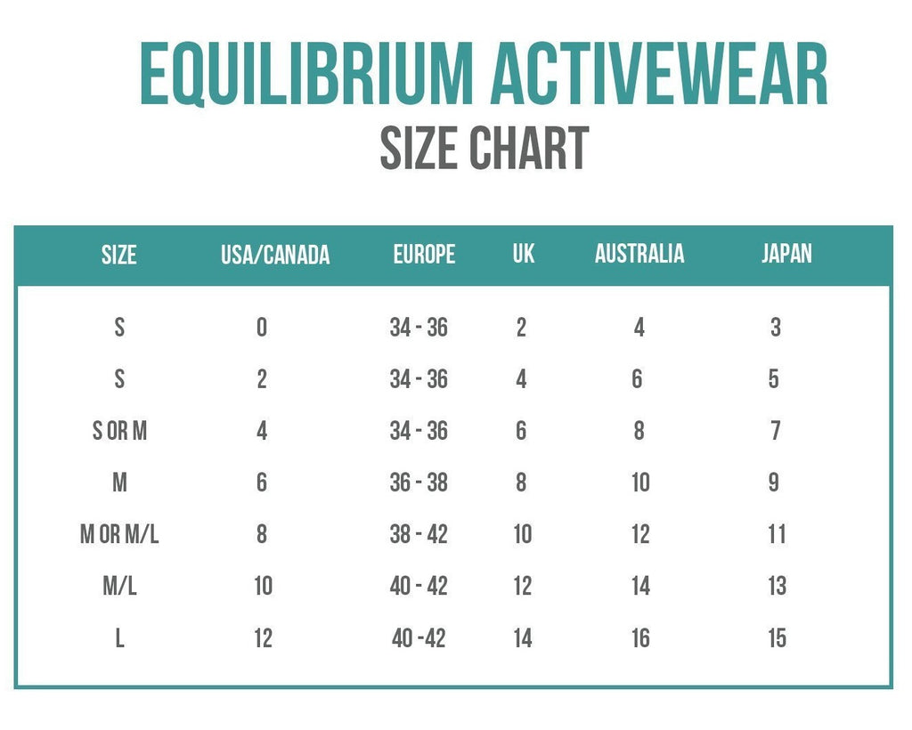 European size chart tops