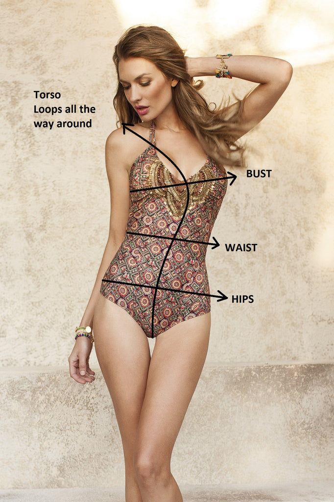 how to measure a one piece swimsuit