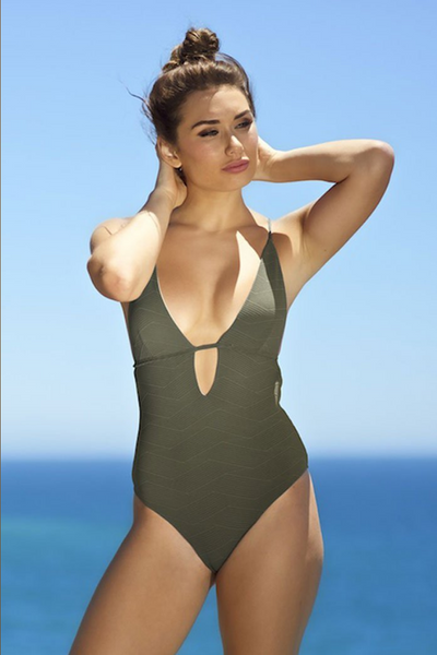 one piece swimwear with built in bra