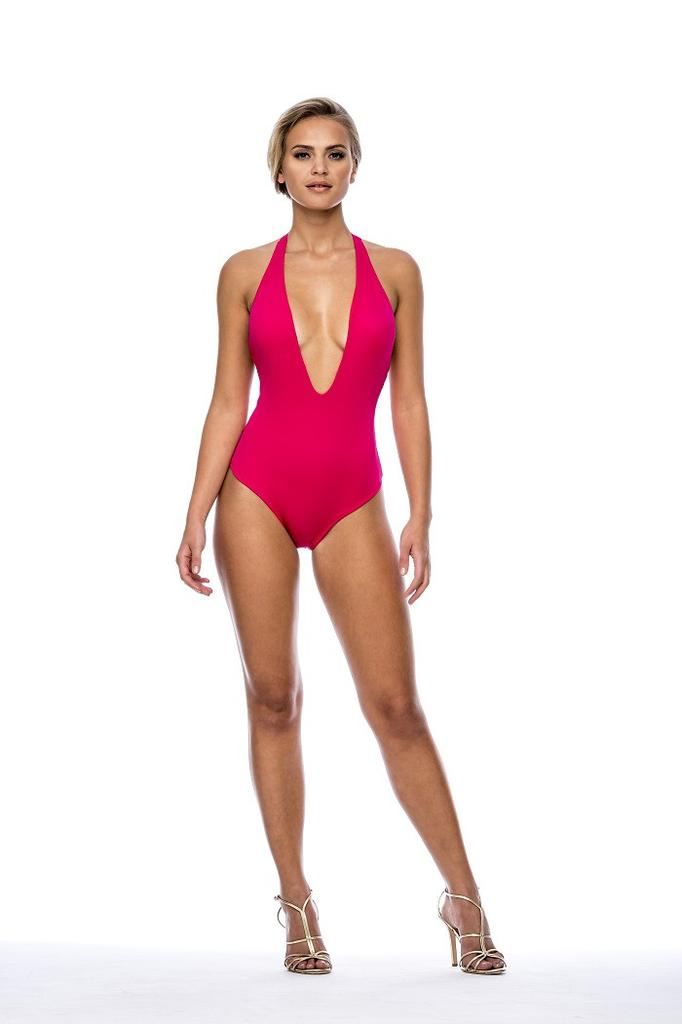Peixoto Flamingo One Piece - Cherry Red