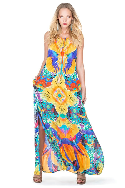 luxury beach maxi dress