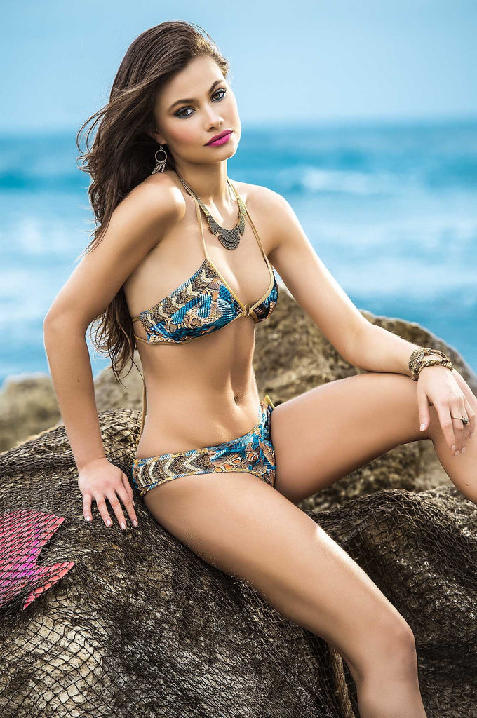 Mar De Rosas - Serpiente Del Mar Bikini Set