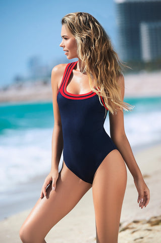 Red and Blue Swimsuit
