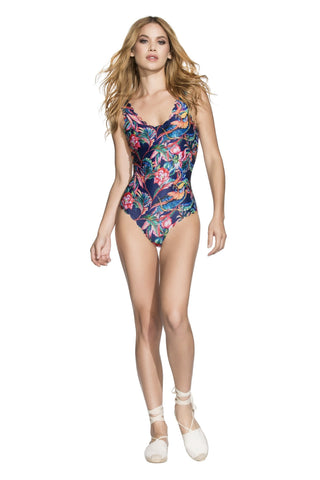 Agua Bendita 2017 Reversible One Piece - Azul