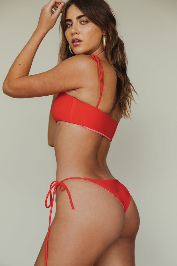 dbrie daisy cheeky bottom in red + rouge