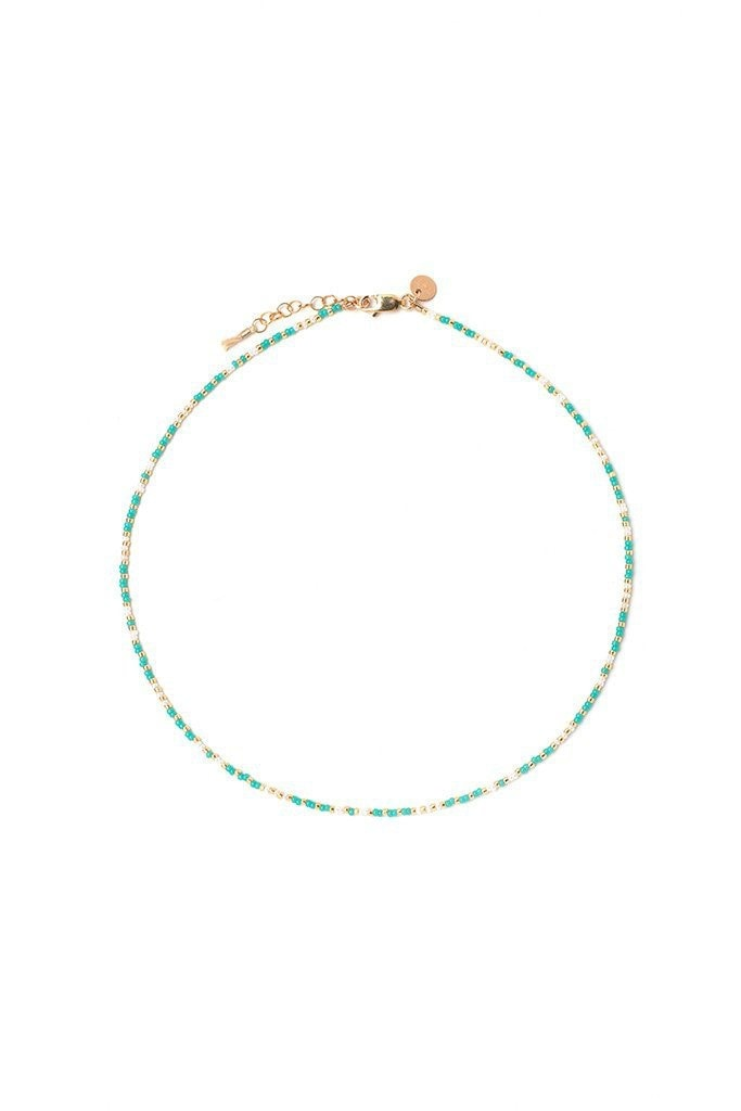 Turquoise carded choker