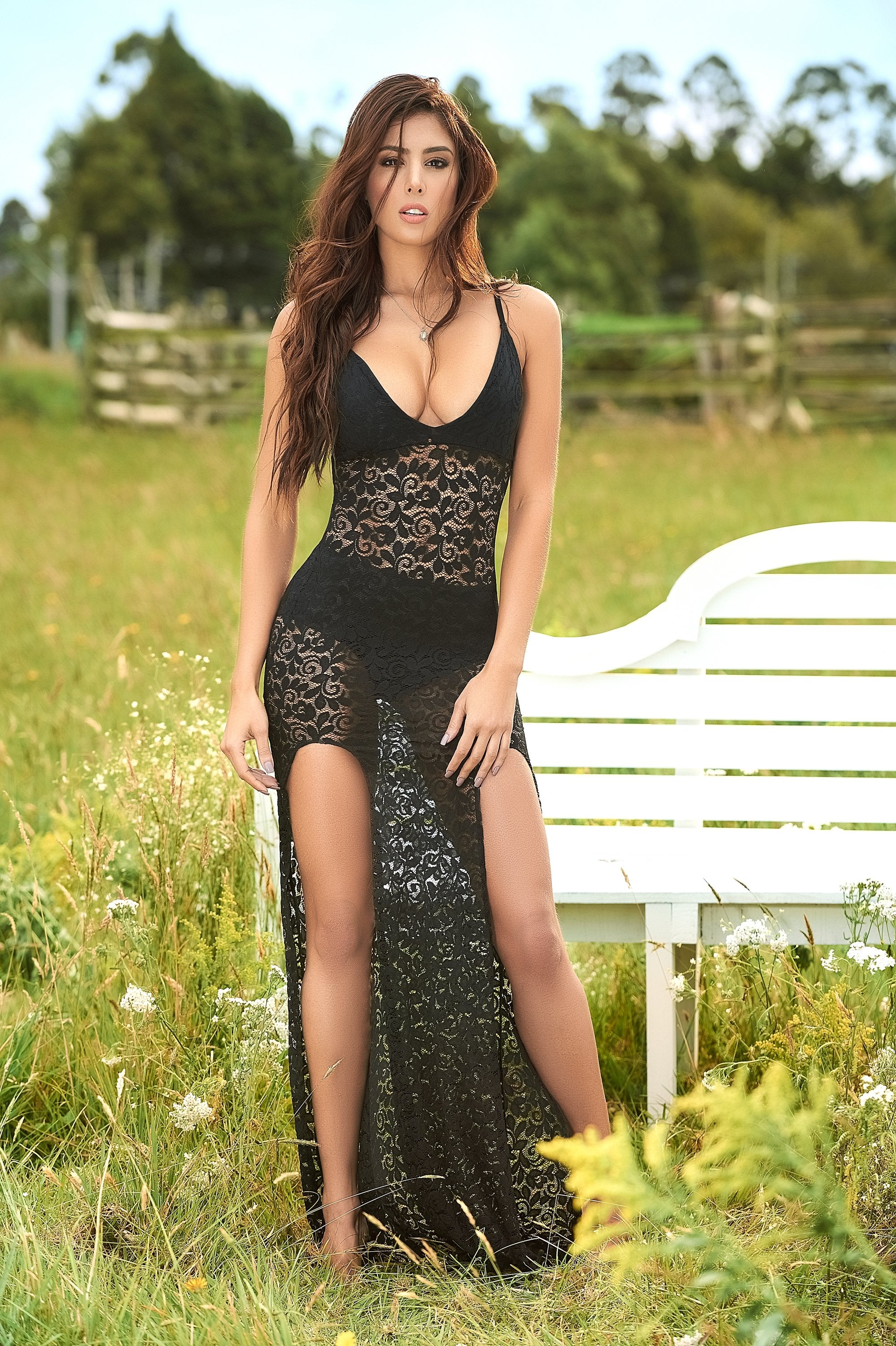 Sweet Dream Lace Lingerie Gown