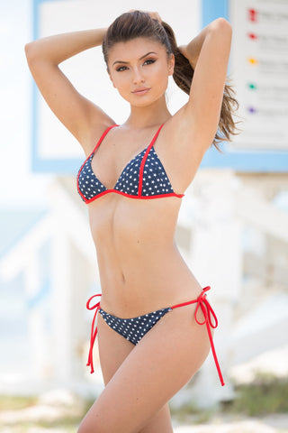 Red, White, & You Bikini Top