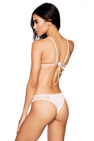 Frankies Bikinis Tanner Bottom in Blush Pink