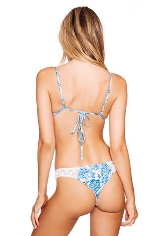 Frankies Bikinis Tanner Bottom in Blue Dahlia