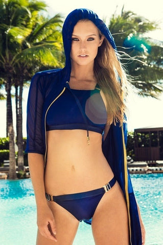 Hollie Watman Navy Halter Bikini Set