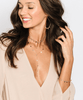 Tess and Tricia Kenna Gold Filled Sequin Lariat Necklace