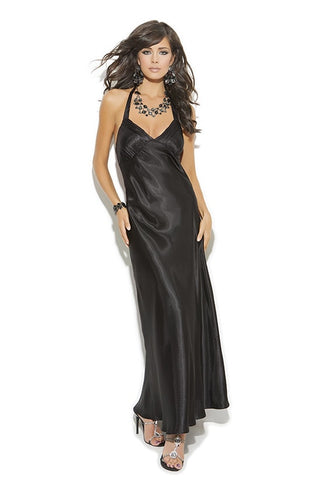 Long Black Satin Nightie