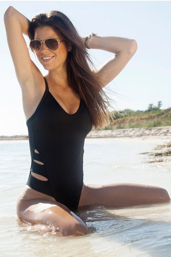 Black Cut Out One Piece