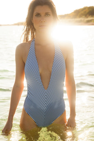 Designer Deep V Swimsuit