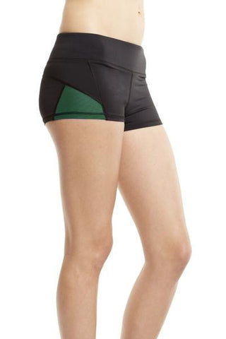 Michi Blaze Black and Green | Activewear Shorts