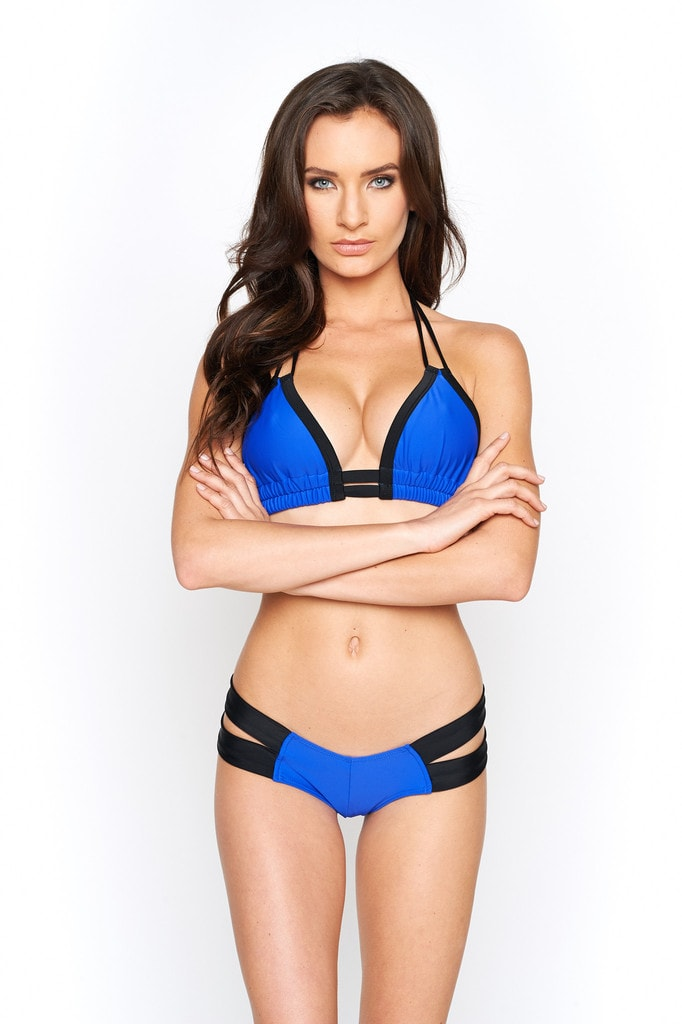 Montce Swim Deeper Blue and Black Euro Top
