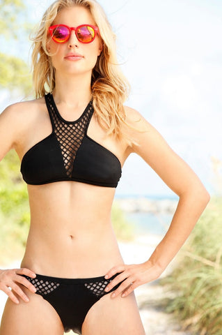 Peixoto Playa Bikini Set in Black