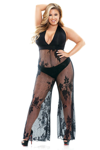 Plus Size Luxury Lingerie Jumpsuit