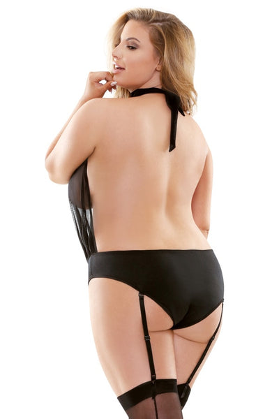 9591efd8089 Plus Size Sheer Playsuit Lingerie