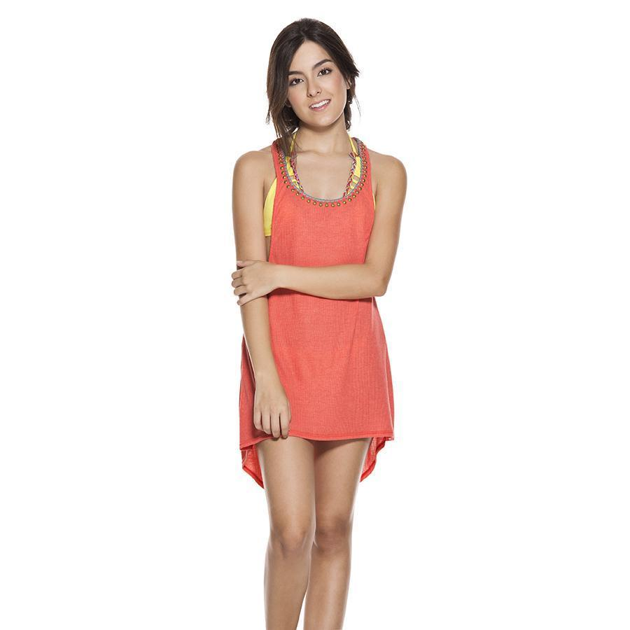 SUMMER RESORTWEAR TOPS CORAL TUNIC