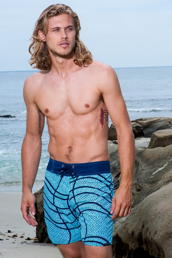 Sauvage Swimwear Surf Shorts Swirl