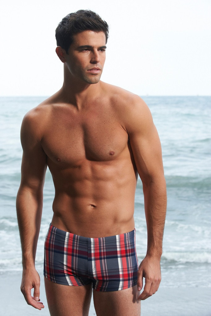 Sauvage Mens Swimsuit - Plaid