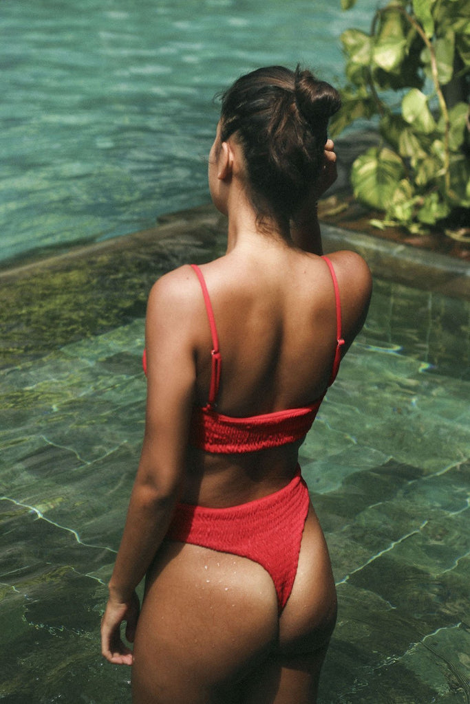 Karma Bikinis SÓL Bottom in Risky Red