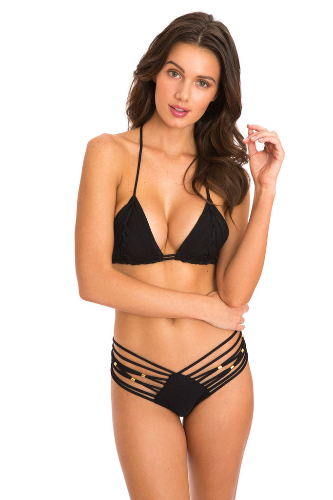 Designer Black String Swimsuit