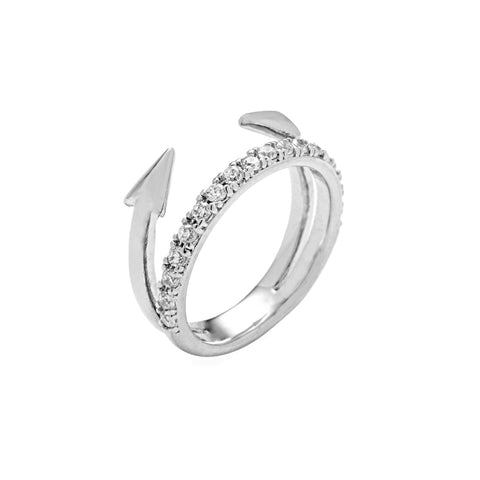 Tai Jewelry Silver Arrow Ring