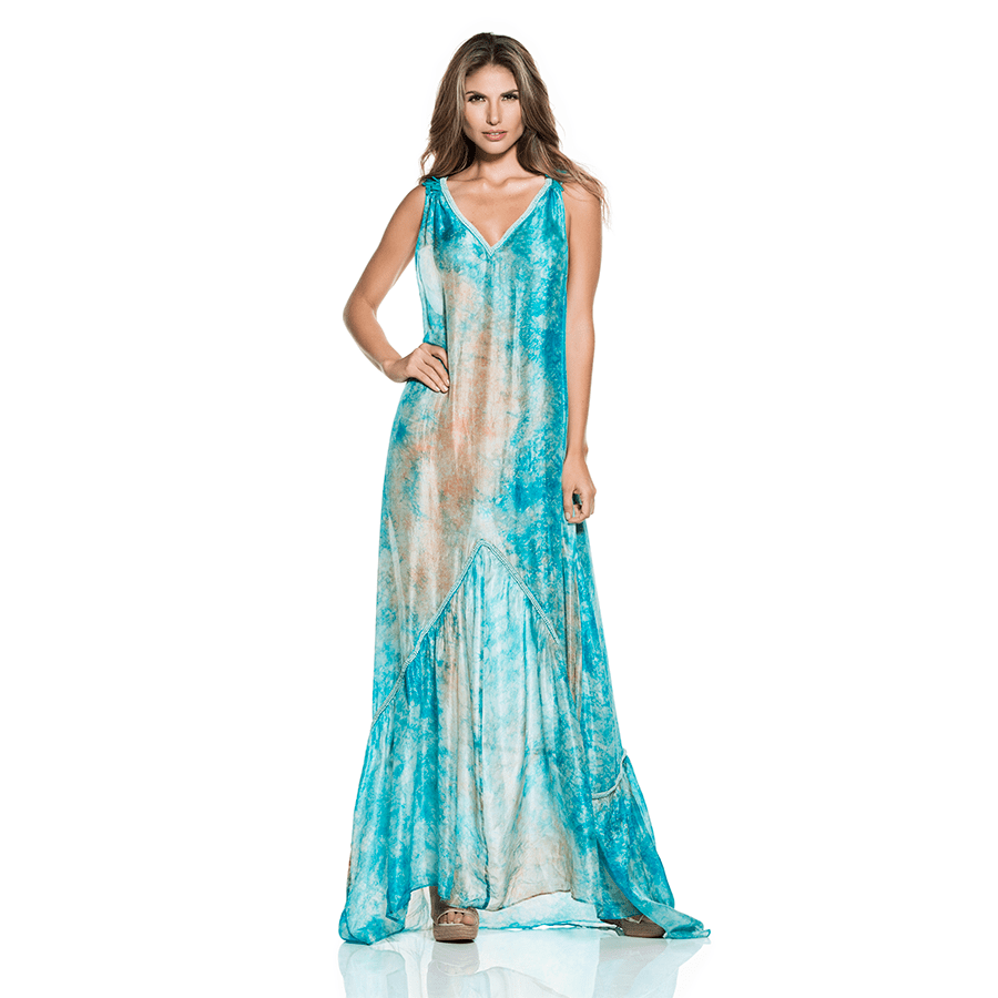 Luxury Silk Beach Dress