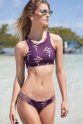 Nirvanic Swim - Xylona Top in Heliconia