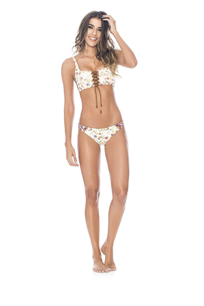 Agua Bendita - Meadow - Floral Lace Up Bikini