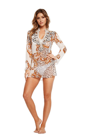 Animal Print Silk Cover Up
