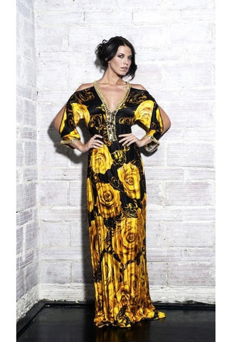 Baccio Couture Ross Silk Long Dress