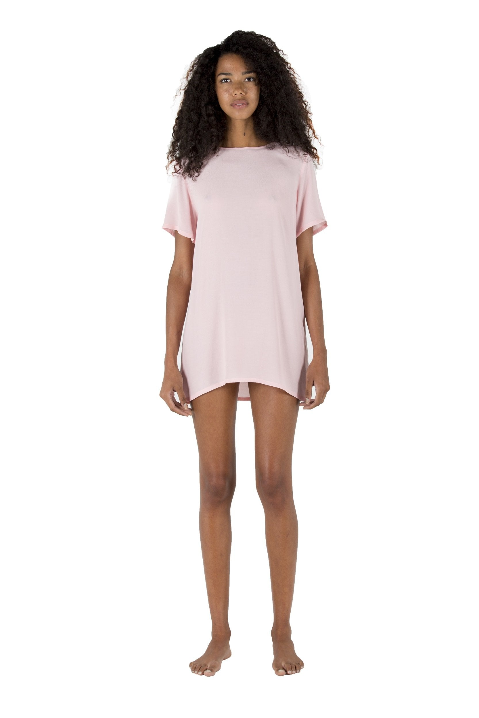 Short Sleeve Baby Doll Bea Pink