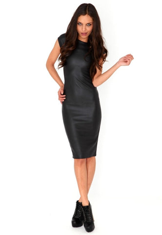 bikini luxe faux leather dress