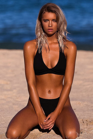 The Mini - Black Bond Eye Bikini