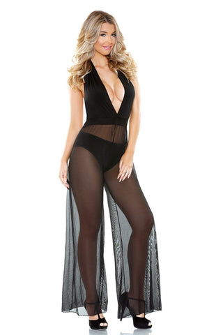 Black Sheer Jumpsuit
