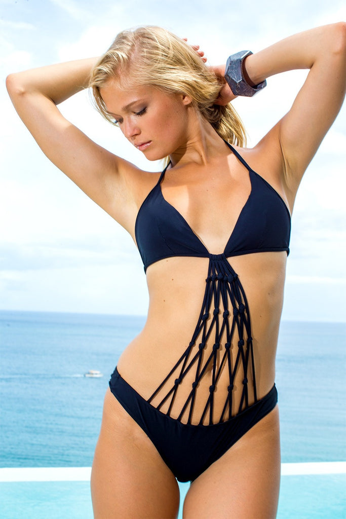 Sauvage Swimwear - Black Macrame One Piece