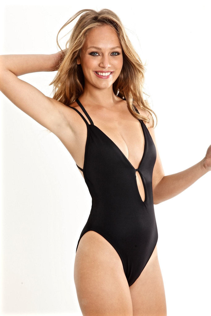 Peixoto Swimwear Isla | Black One Piece Swimsuit