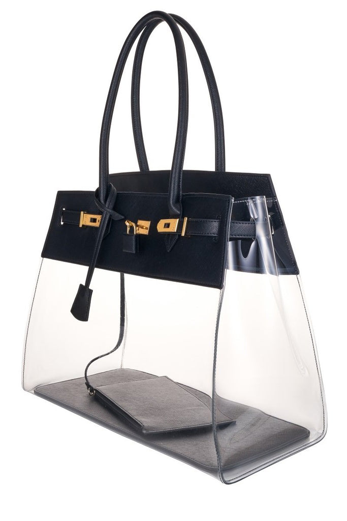 Black Designer Clear Bag