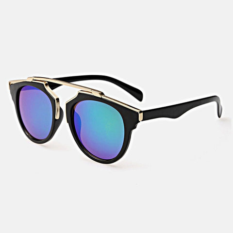 Gold Metal Bar Sunglasses