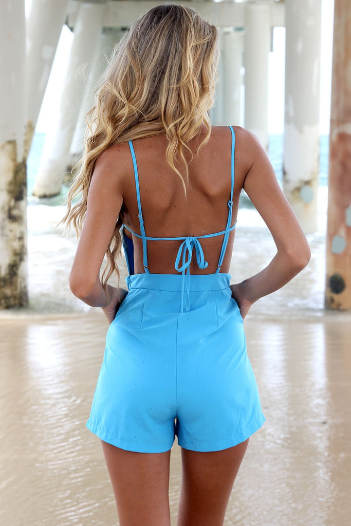 Blue Romper - Playsuit