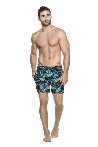 Agua Bendita - Blue Designer Swim Shorts
