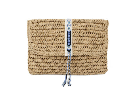 Boho Clutch Bag in Lilac
