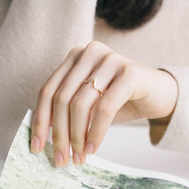 Chevron Ring available in Silver or Gold