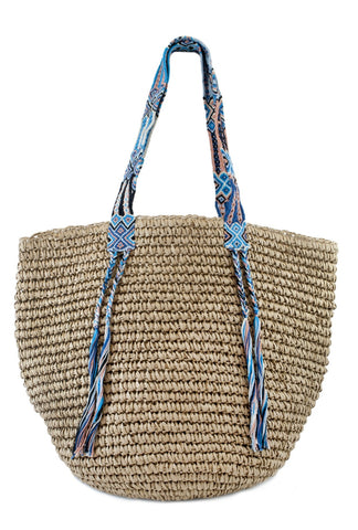 Crochet strap basket bag