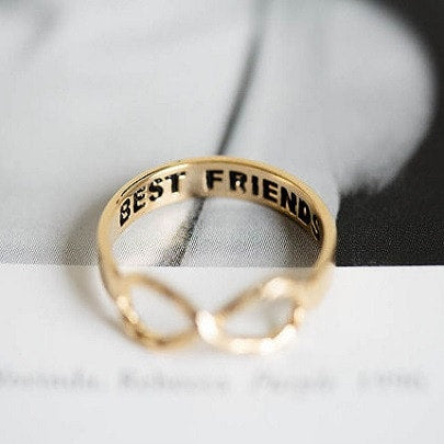 friendship rings in gold