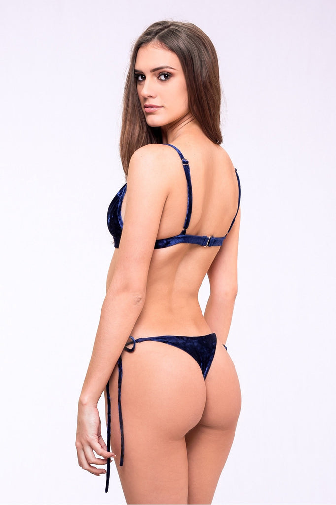 Dbrie Swim Velvet Tie Sides Bottom - Blue Crush